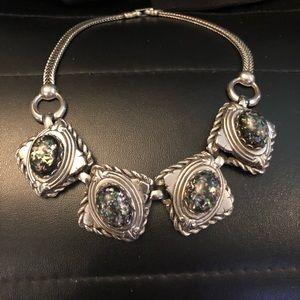 confetti moonstone speckle vintage necklace